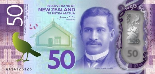 Новозеландская 50-долларовая пластиковая купюра