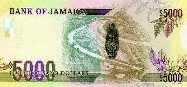 ямайский доллар 5000