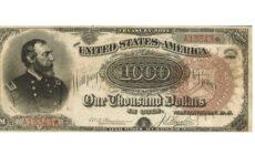 Самая дорогая банкнота в мире: 1000-долларовая купюра Гранд Арбуз