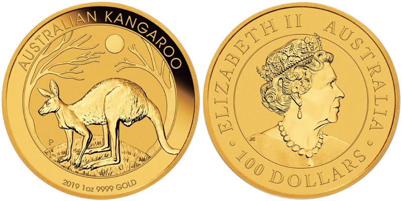 Кенгуру золотая монета
