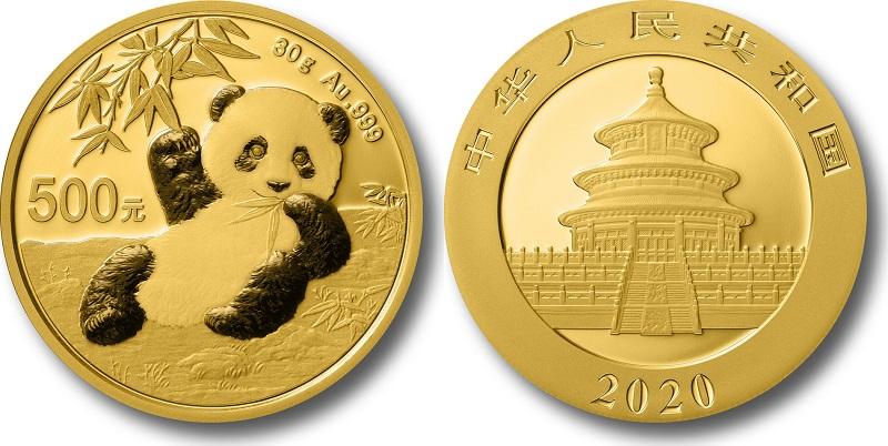 Китайская панда золотая монета