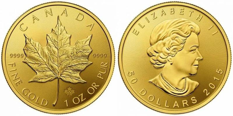 Кленовый лист золотая монета