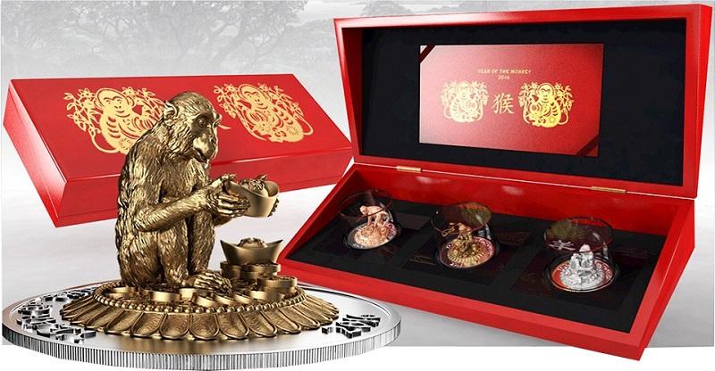 3D-монета в форме обезьяны