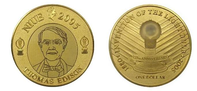 Монета с лампочкой
