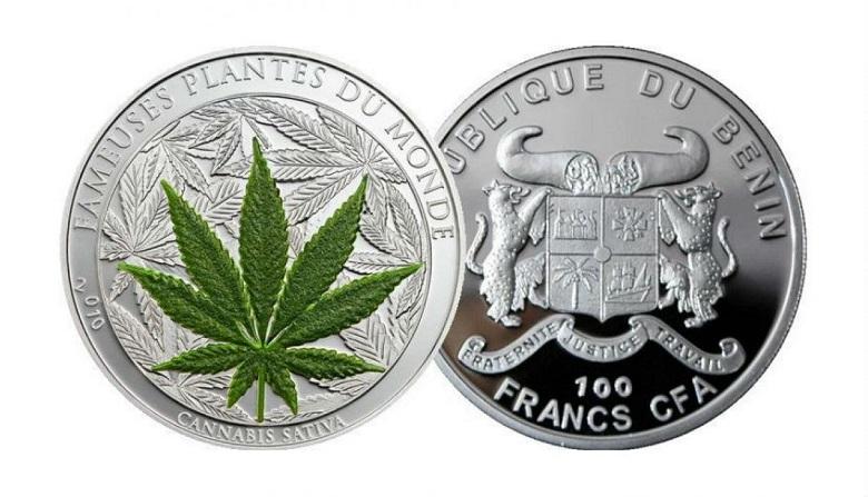 Монета с марихуаной